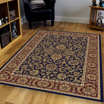 Irrigon Navy/Red Area Rug Rug Size: 79 x 116
