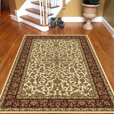 Jonesboro Ivory Area Rug Rug Size: Rectangle 79 x 116