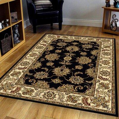Jordan Black Area Rug Rug Size: 79 x 96
