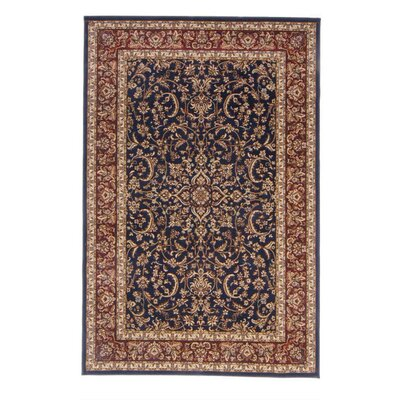 Jennings Navy/Red Area Rug Rug Size: Rectangle 79 x 116