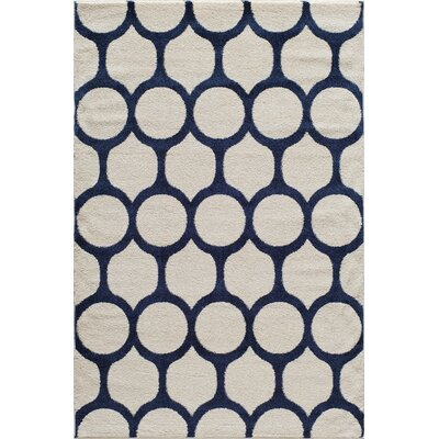 Beige/Blue Area Rug Rug Size: Rectangle 710 x 1010