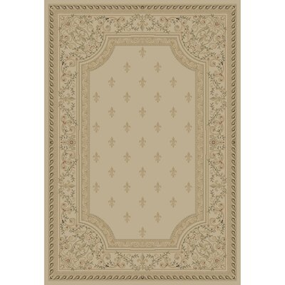 Ivory Fleur De Lys Area Rug Rug Size: Rectangle 311 x 57