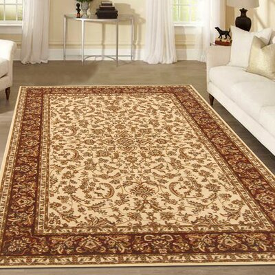 Jonesboro Ivory Area Rug Rug Size: Rectangle 55 x 83