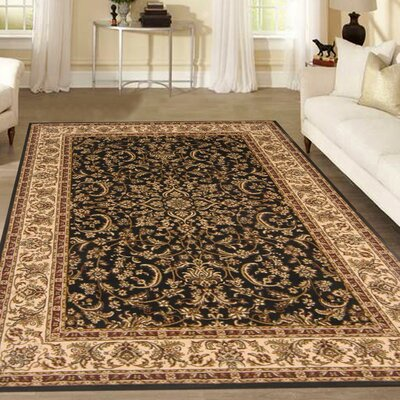Jimtown Black Area Rug Rug Size: Rectangle 55 x 83