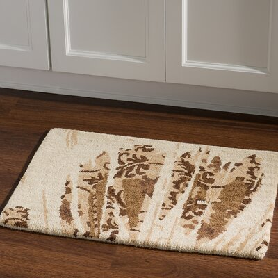 Hand-Tufted Beige/Brown Area Rug Rug Size: Rectangle 110 x 210