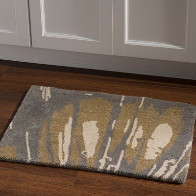Hand-Tufted Slate/Olive Area Rug Rug Size: Rectangle 110 x 210