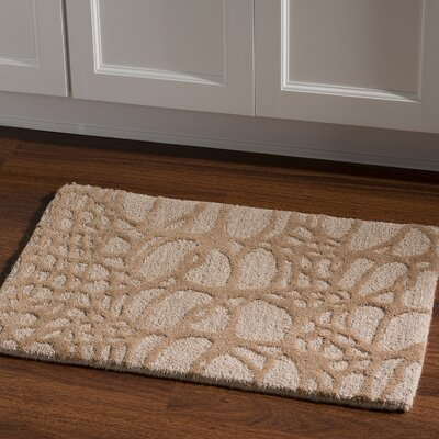 Hand-Tufted Ivory/Pale Gold Area Rug Rug Size: Rectangle 110 x 210