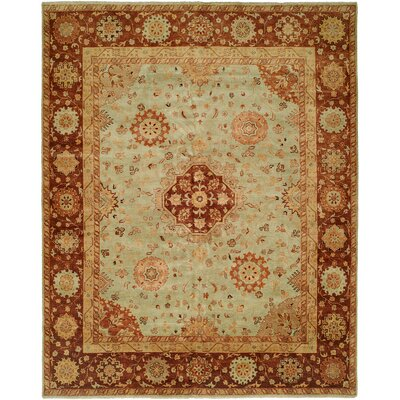 Gudur Hand-Knotted Pale Pistachio/Hopi Clay Area Rug Rug Size: 10 x 14