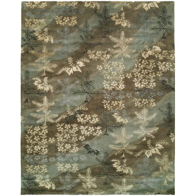 Dhuri Hand-Tufted Sky Brown Area Rug Rug Size: 36 x 56