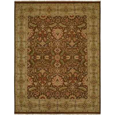 Dumka Hand-Knotted Fall Sienna Area Rug Rug Size: 9 x 12