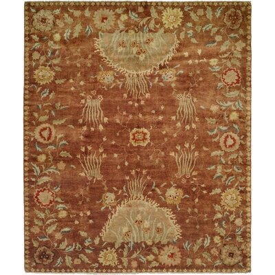 Dumka Hand-Knotted Rosewood/Yellow Area Rug Rug Size: 6 x 9
