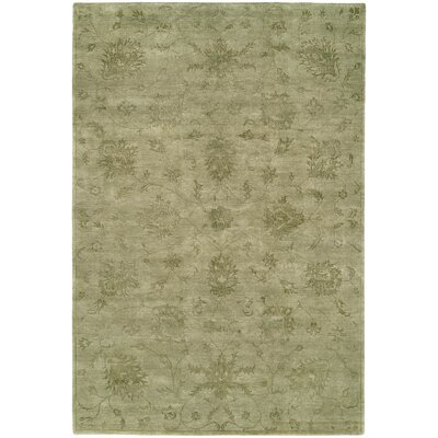 Faridkot Hand-Knotted Celadon Area Rug Rug Size: 6 x 9