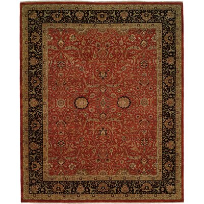 Diphu Hand-Knotted Rust/Black Area Rug Rug Size: 2 x 3