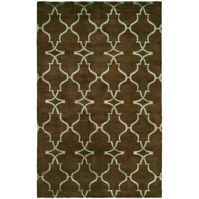 Farooqnagar Handmade Java Brown Area Rug Rug Size: Rectangle 4 x 6