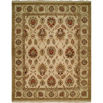 Fatehabad Hand-Knotted Ivory Area Rug Rug Size: Runner 26 x 8