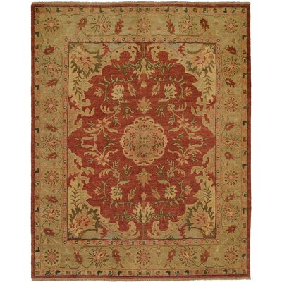 Dumka Hand-Knotted Brownstone Brick Area Rug Rug Size: 4 x 6