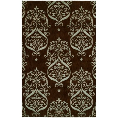 Dumraon Handmade Brown Area Rug Rug Size: 10 x 14