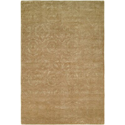 Faridkot Hand-Knotted Butternut Area Rug Rug Size: 6 x 9