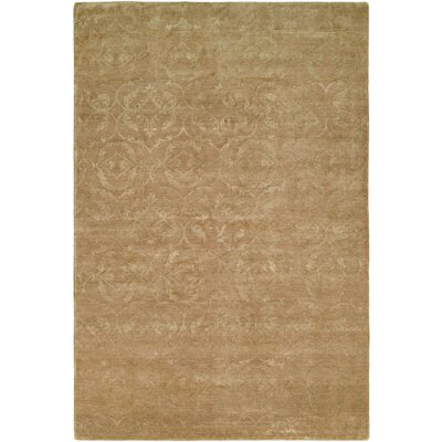 Faridkot Hand-Knotted Butternut Area Rug Rug Size: 9 x 12