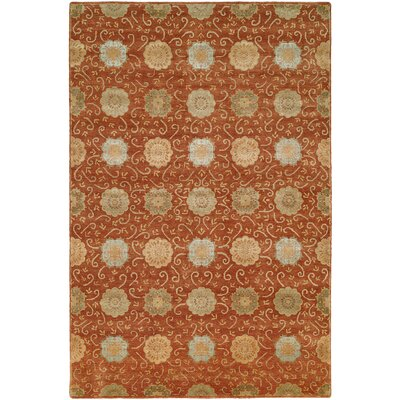 Faridkot Hand-Knotted Rust Area Rug Rug Size: 8 x 10