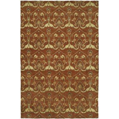 Dumraon Handmade Terra Cotta Area Rug Rug Size: 9 x 12