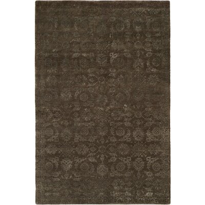 Faridkot Hand-Knotted Smokey Brown Area Rug Rug Size: 10 x 14