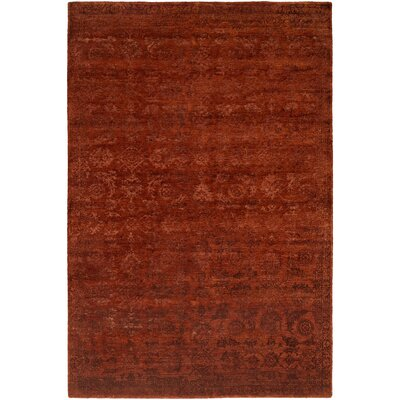 Faridkot Hand-Knotted Rich Russet Area Rug Rug Size: Rectangle 6 x 9