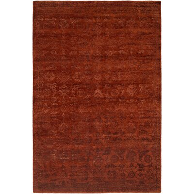 Faridkot Hand-Knotted Rich Russet Area Rug Rug Size: 6 x 9
