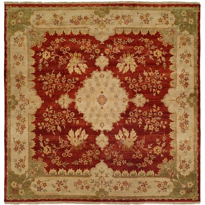 Dumka Hand-Knotted Rose Chenille Area Rug Rug Size: 9 x 12