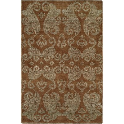 Faridkot Hand-Knotted Hazelnut Area Rug Rug Size: Rectangle 6 x 9