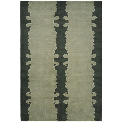 Farooqnagar Handmade Slate Green Area Rug Rug Size: Rectangle 4 x 6