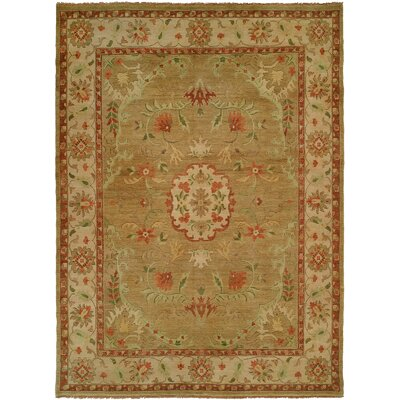 Dumka Hand-Knotted Earth Tones Area Rug Rug Size: 10 x 14