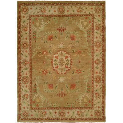 Dumka Hand-Knotted Earth Tones Area Rug Rug Size: 6 x 9