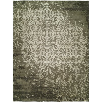 Dhuri Hand-Tufted Shadow Ivory Area Rug Rug Size: Rectangle 6 x 9