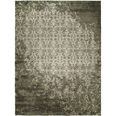 Dhuri Hand-Tufted Shadow Ivory Area Rug Rug Size: 96 x 136