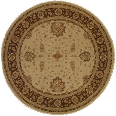 Dhenkanal Hand-Knotted Camel / Brown Area Rug Rug Size: Round 10
