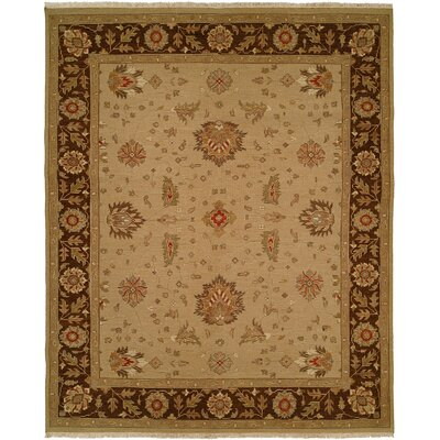 Dhenkanal Hand-Knotted Camel / Brown Area Rug Rug Size: 3 x 5