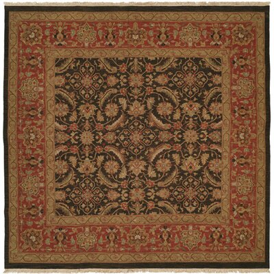Forbesganj Hand-Knotted Blue / Rose Area Rug Rug Size: Rectangle 2 x 3