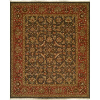 Forbesganj Hand-Knotted Blue / Rose Area Rug Rug Size: 6 x 9