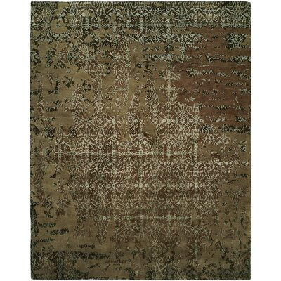 Dhuri Hand-Tufted Mocha Area Rug Rug Size: Rectangle 2 x 3