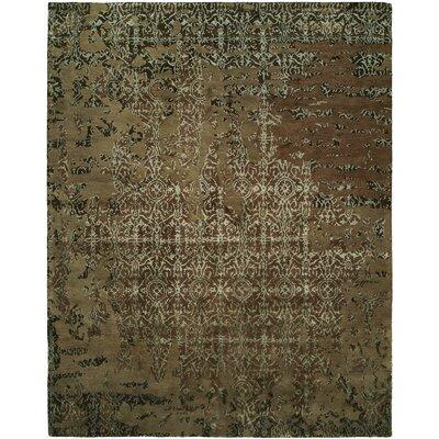 Dhuri Hand-Tufted Mocha Area Rug Rug Size: 6 x 9