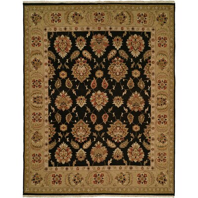 Dhenkanal Hand-Knotted Black / Camel Area Rug Rug Size: Runner 26 x 12