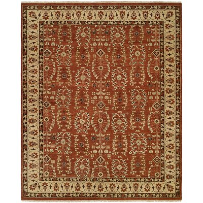 Fazilka Hand-Knotted Allspice / Beige Area Rug Rug Size: 4 x 6