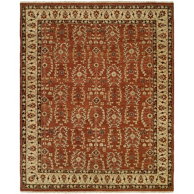 Fazilka Hand-Knotted Allspice / Beige Area Rug Rug Size: 6 x 9