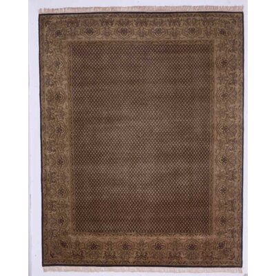Guruvayoor Hand-Knotted Black Area Rug Rug Size: Rectangle 6 x 9