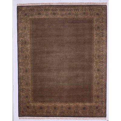 Guruvayoor Hand-Knotted Black Area Rug Rug Size: 8 x 10
