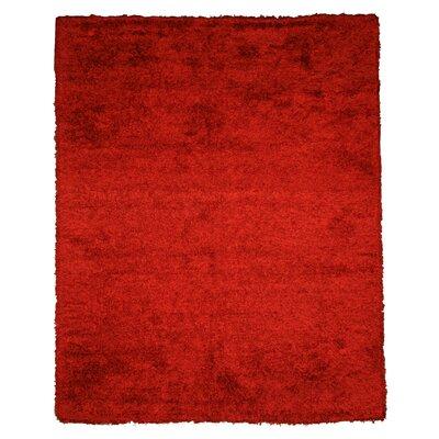 Jalandhar Hand-Woven Red Area Rug Rug Size: 5 x 8