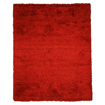Jalandhar Hand-Woven Red Area Rug Rug Size: Rectangle 8 x 10
