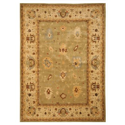 Jangaon Hand-woven Green/Ivory Area Rug Rug Size: Rectangle 710 x 112