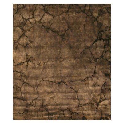 Jatani Hand-Woven Brown Area Rug Rug Size: 5 x 8